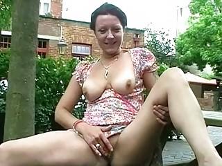outdoor masturbation of older  shaz