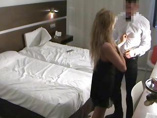 spy lady copulates quarters service guy