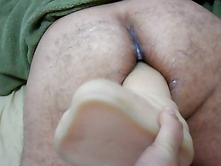 woman strapon on giant sex toy into anal your