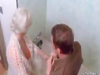 woman son bathroom fantasy