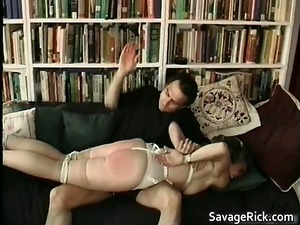 horny lady is fuck slave in weird bondage