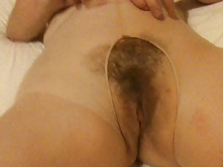 bushy mum into stockings