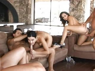 angelic slutty wifes having super  tough group