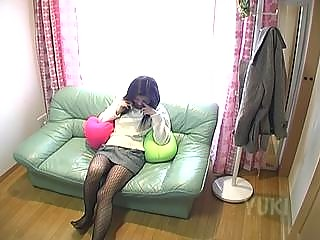 a mature babe sitting on a professor dildoing