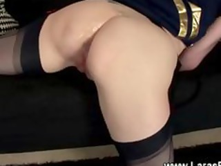 older lady with stockings takes cumshots