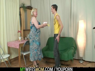horny old seduces her son into law
