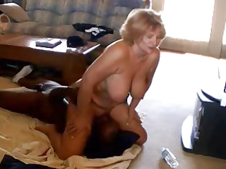 blond milf with her ebony boyfriend