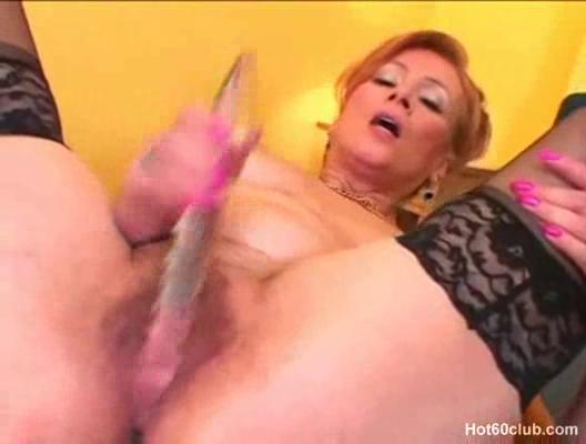 awesome euro grownup redhaired gangbanging into