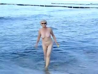 granma at the sea coast