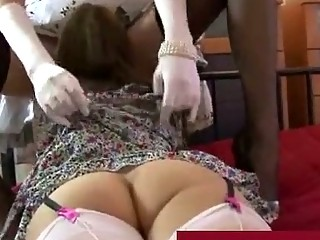 older  chick inside pantyhose enjoys with lady