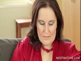 stockinged mommy exposing big tits