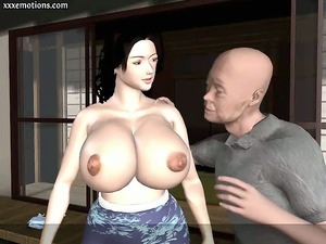 animated mature babe with massive tits