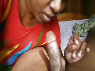 indian grownup licks cock